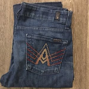 🆕7 For All Mankind Crop A-Pocket Jeans